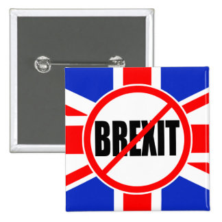 """NO BREXIT"" 15 CM SQUARE BADGE"
