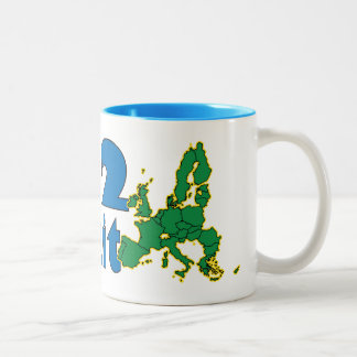 No Brexit - EU - UK referendum Two-Tone Coffee Mug