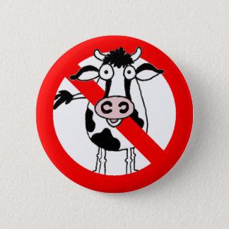 No bull.... allowed! 6 cm round badge