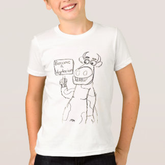 NO BULL!  Vegetarians Rock! T-Shirt