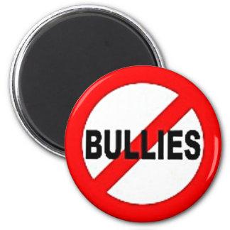 no bullies 6 cm round magnet