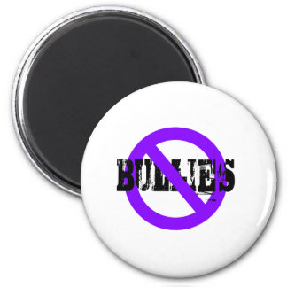 No Bullies purple Refrigerator Magnet