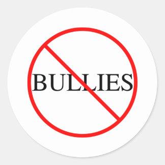 No Bullies Round Sticker