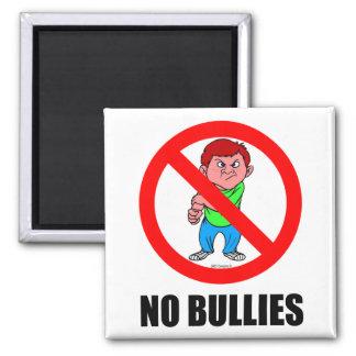 NO BULLIES SQUARE MAGNET
