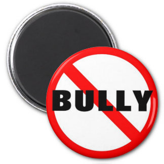 No Bully 6 Cm Round Magnet