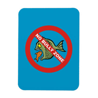 No Bully Zone Rectangle Magnet