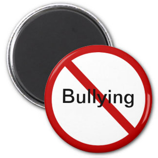 No Bullying 6 Cm Round Magnet