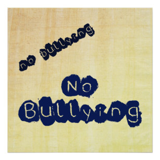 No Bullying Poster