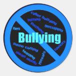 No bullying round sticker