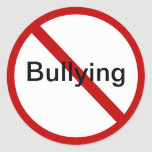 No Bullying Round Sticker