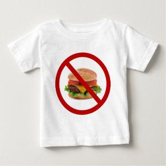 """""""No Burgers"""" Baby T-Shirt"""
