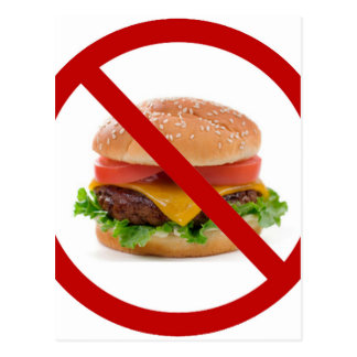 """""""No Burgers"""" Postcard"""