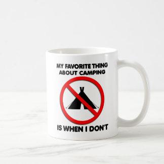 No Camping Funny Mug
