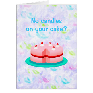 No Candles Funny Birthday Card
