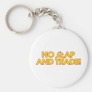 No Cap And Trade! Basic Round Button Key Ring