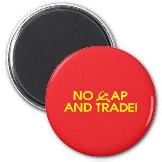 No Cap And Trade! 6 Cm Round Magnet