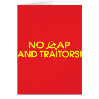 No Cap And Traitors! Greeting Cards