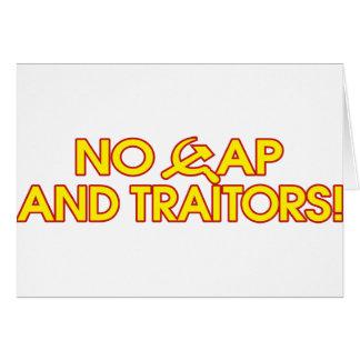 No Cap And Traitors Greeting Card