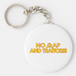 No Cap And Traitors! Basic Round Button Key Ring