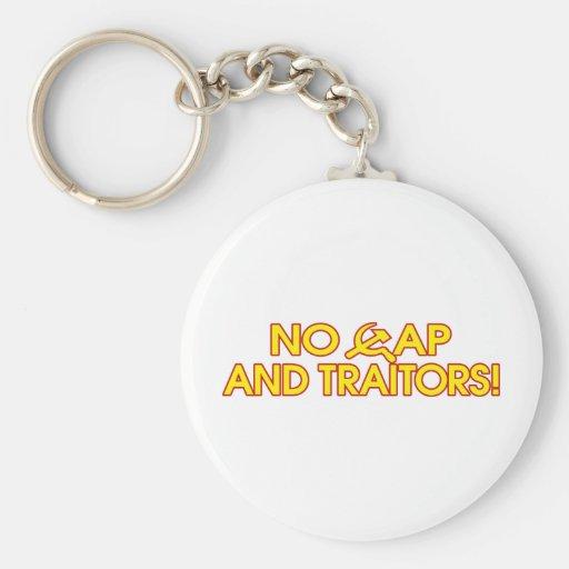 No Cap And Traitors! Keychain