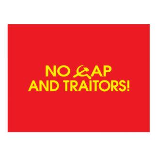 No Cap And Traitors! Post Card