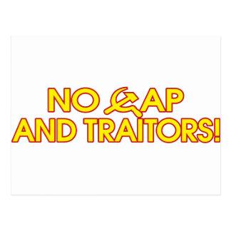 No Cap And Traitors! Postcard