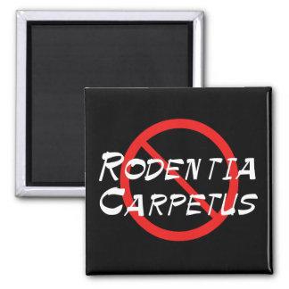 No Carpet Rats Refrigerator Magnet