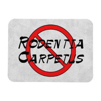 No Carpet Rats Vinyl Magnets
