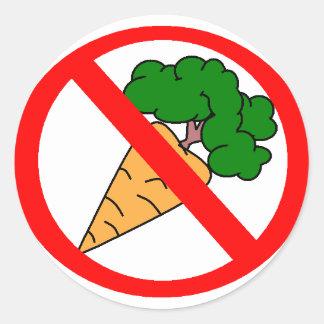 No Carrots! Classic Round Sticker