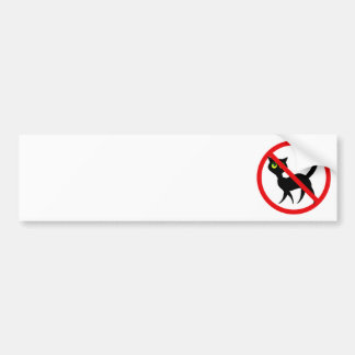 No Cats Allowed Bumper Sticker
