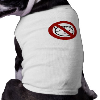 No Cats Allowed Dog Tee