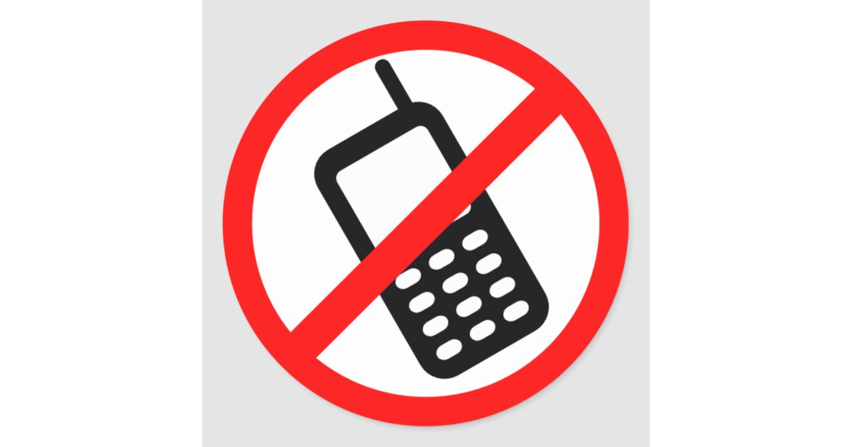 No Cell Phone Sticker Zazzle