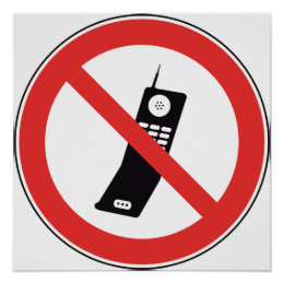 no cell phone poster