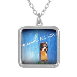 no chains ALL LOVE rescue Silver Plated Necklace