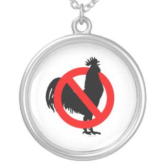 No (Chicken) Round Pendant Necklace