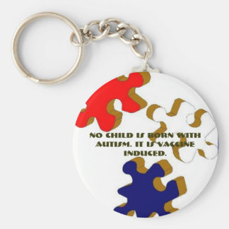 No Child Is Born With Autism. It I... - Customized Key Ring