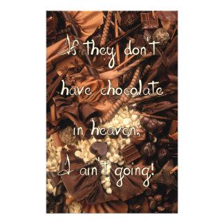 No Chocolate in Heaven Flyer