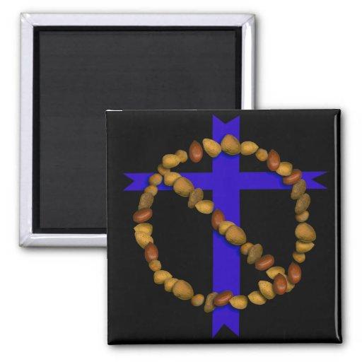 No Christian Nuts Fridge Magnet