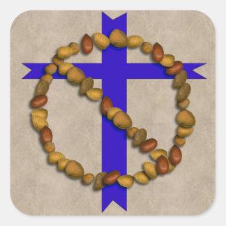 No Christian Nuts Square Sticker