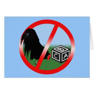 No Cockblocking Greeting Card