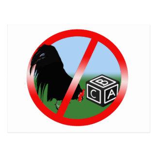 No Cockblocking Postcard