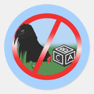 No Cockblocking Round Sticker