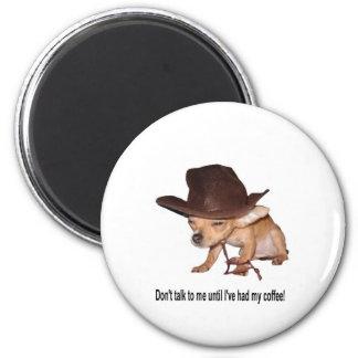 No Coffee 6 Cm Round Magnet