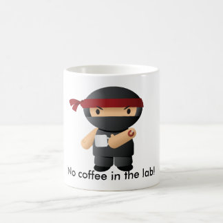 No coffee in the lab, Giga ninja! Coffee Mug