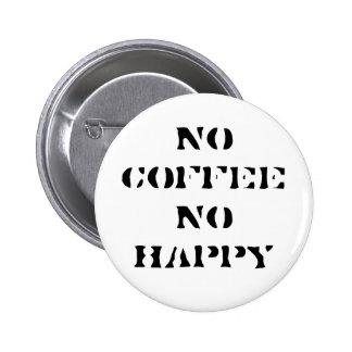 No coffee No happy Button