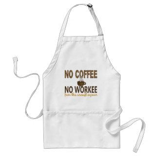 No Coffee No Workee Aircraft Engineer Apron