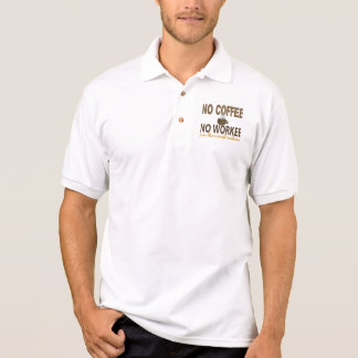 No Coffee No Workee Aircraft Mechanic Polo Shirt