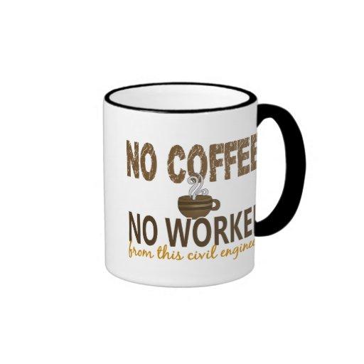 No Coffee No Workee Civil Engineer Coffee Mugs