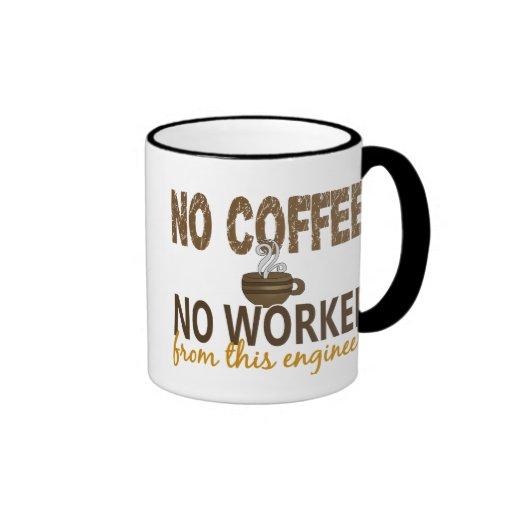 No Coffee No Workee Engineer Mugs