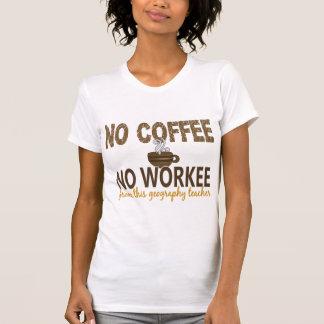 No Coffee No Workee Geography Teacher Tees